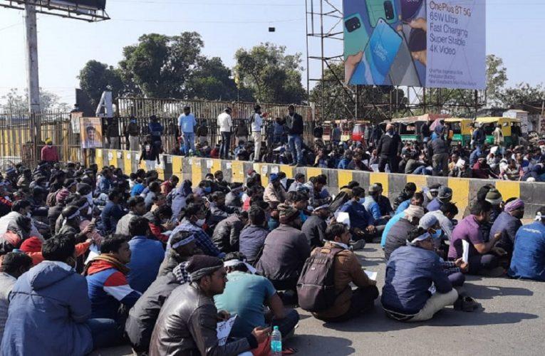 रांची: जूनियर इंजीनियर व कंप्यूटर ऑपरेटर का हल्ला बोल, पुलिस व प्रदर्शनकारियों के बीच हुई झड़प..