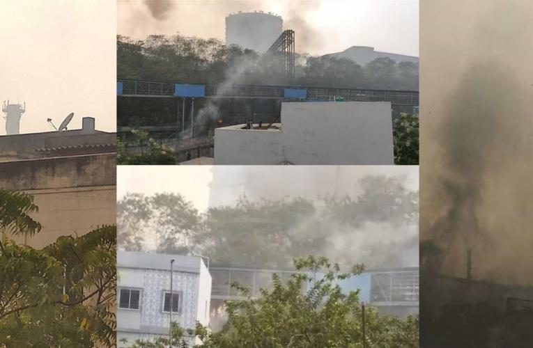जमशेदपुर: टाटा स्टील कंपनी में हुआ भयंकर विस्फोट, लगी आग..