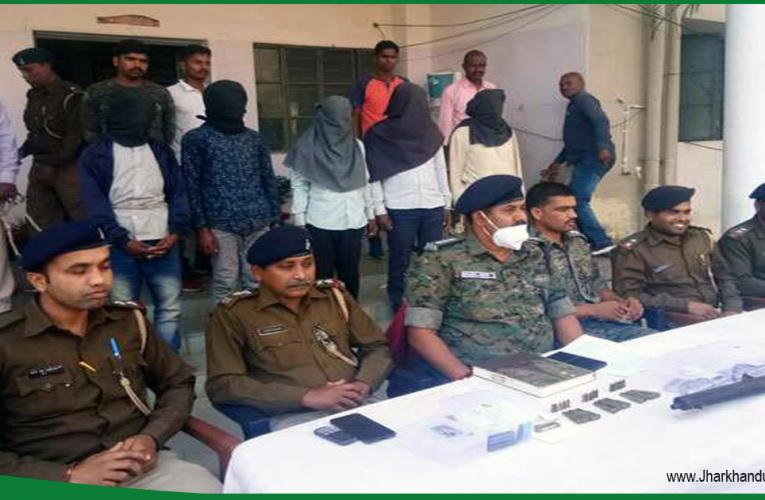 विदेशी हथियार के साथ पांच टीएसपीसी उग्रवादी को पुलिस ने किया गिरफ्तार