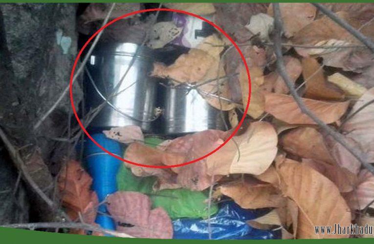 चतरा में 5-5 किलो का चार केन बम बरामद, किया गया डिफ्यूज..