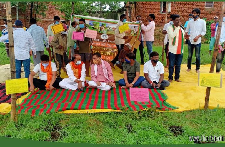 भाजपा कार्यकर्ताओं ने किसानों के हित के लिए सरकार के खिलाफ किया प्रदर्शन..