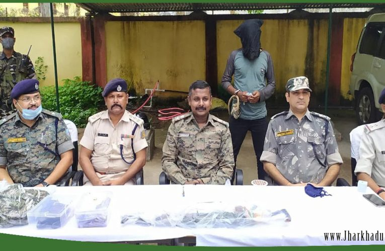 गुमला में AK-56 के साथ प्रतिबंधित उग्रवादी संगठन SJMM का एरिया कमांडर मुनीफ हुआ गिरफ्तार..
