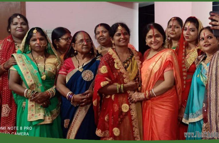झारखंड: पति की दीर्घायु के लिए महिलाओं ने किया निर्जला तीज व्रत..